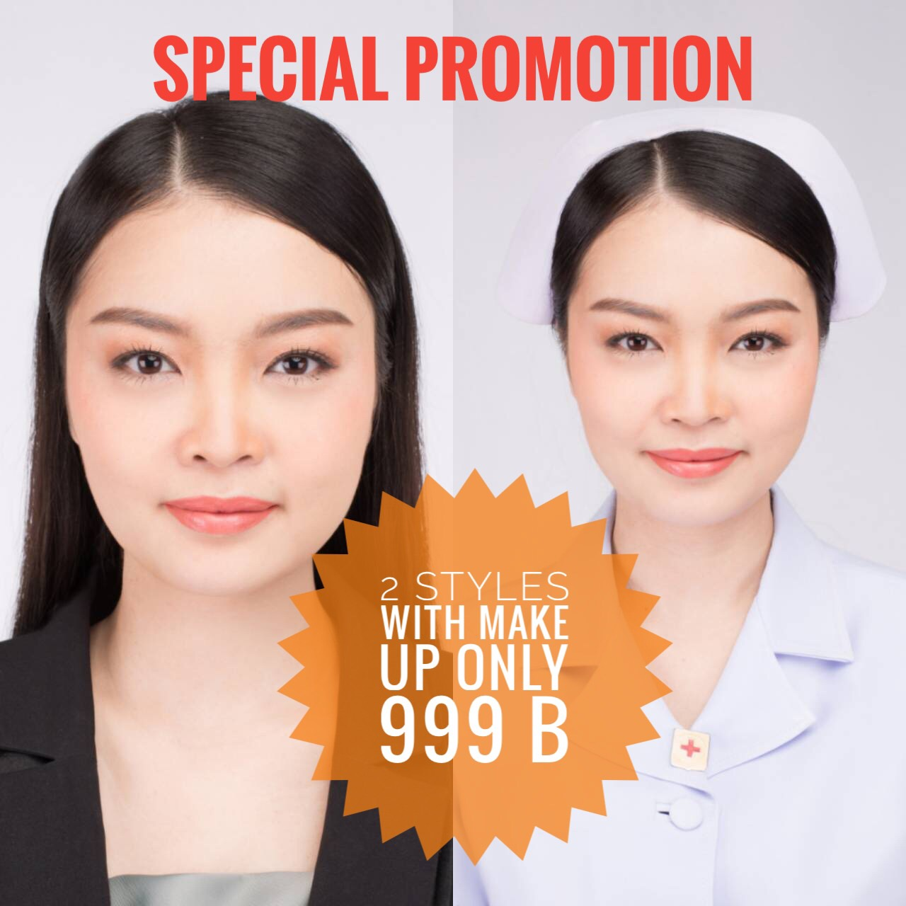 special promotion 2 styles with make up only 999B
